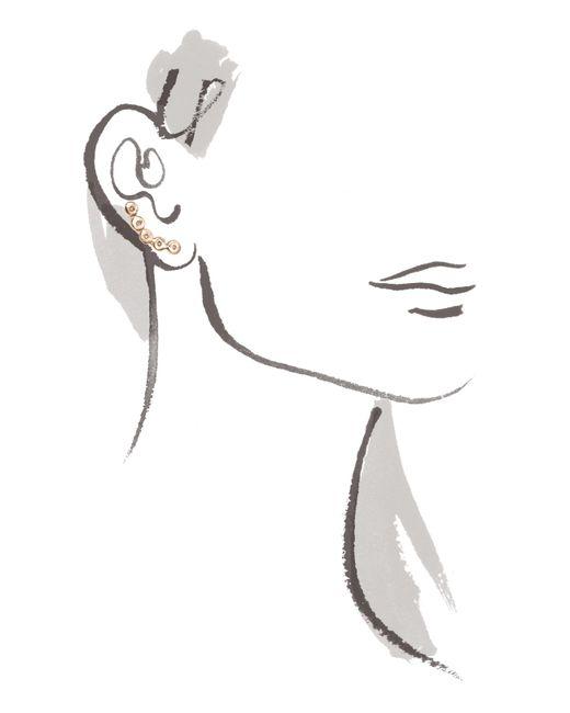 Melissa Joy Manning | Metallic White Diamond Ear Climber | Lyst