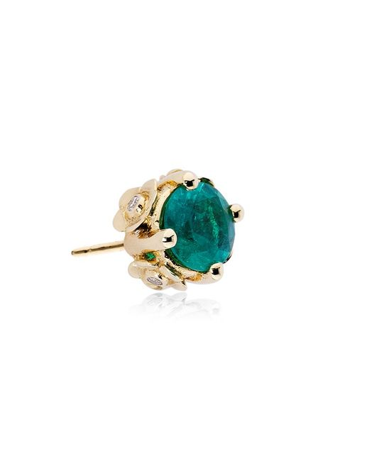 Theo Fennell | Green Emerald Chinese Blossom Bud Earrings | Lyst