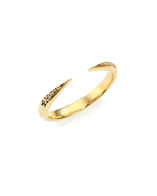 Mizuki | Metallic Icicle Diamond & 14k Yellow Gold Open Ring | Lyst