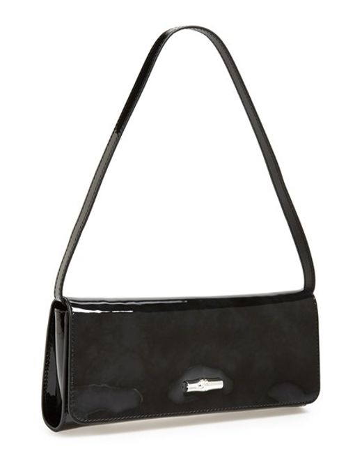 Longchamp | Black 'roseau Box' Clutch | Lyst