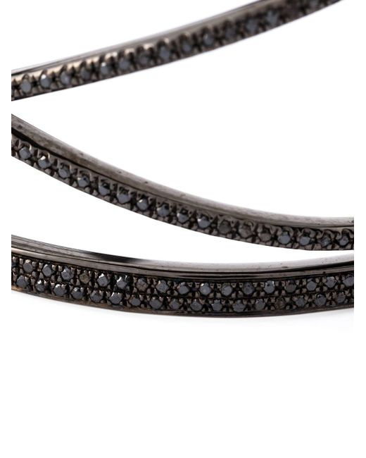 Joelle Jewellery   Black Geometric Diamond Cuff   Lyst