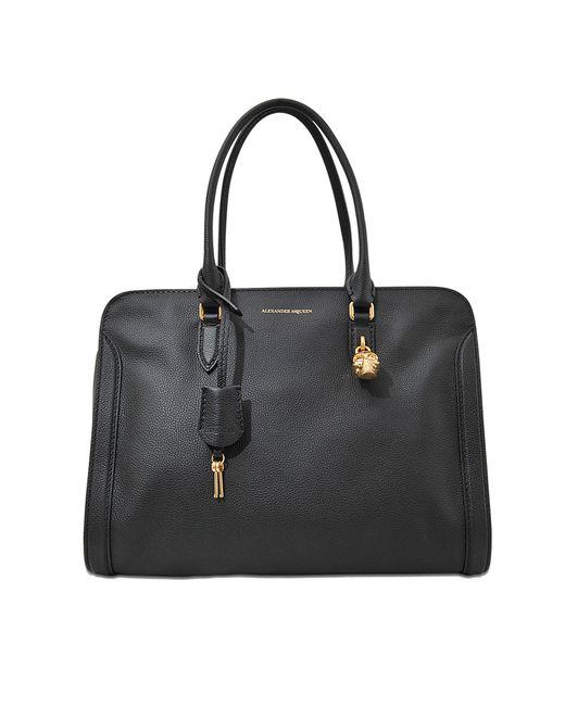 Alexander McQueen   Black Padlock Ziparound Bag   Lyst