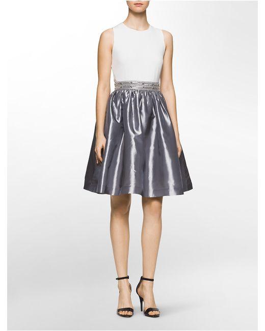 Calvin Klein White Label Beaded Waist Sleeveless Fit