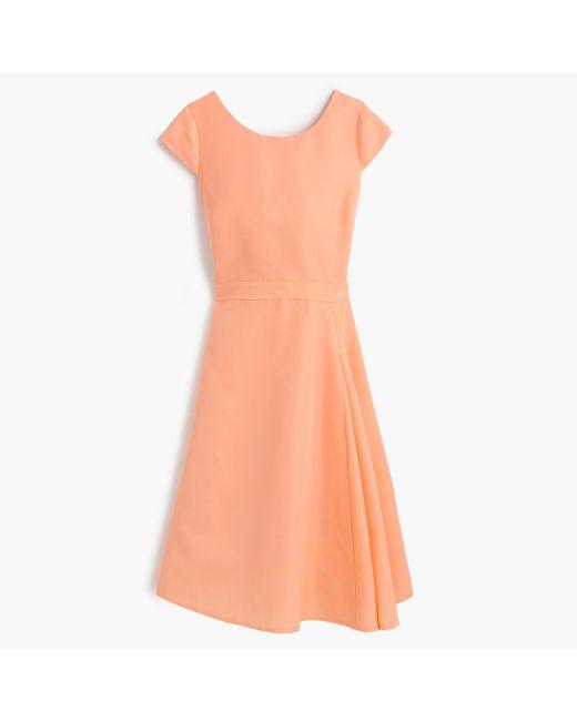 J.Crew | Orange Julia Dress In Classic Faille | Lyst