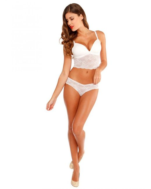 Cosabella | White Trenta Padded Lace Camisole | Lyst