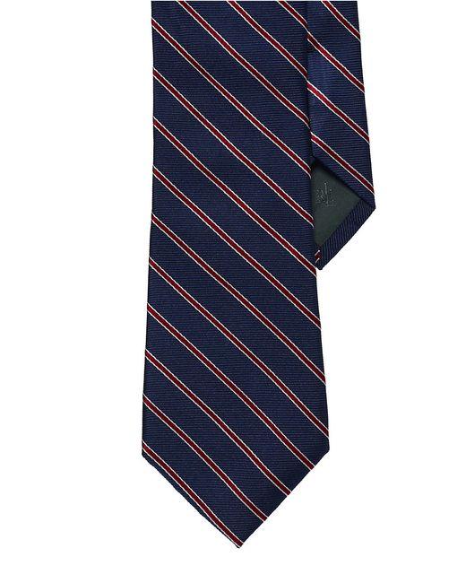 Lauren by Ralph Lauren | Blue Striped Silk Twill Tie for Men | Lyst