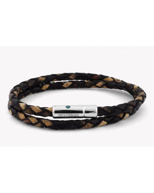 Tateossian | Pop Print Scoubidou Silver Bracelet In Brown for Men | Lyst