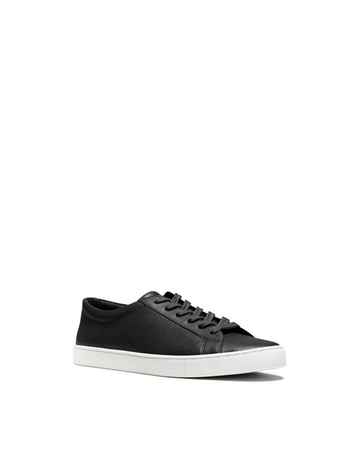 Michael Kors   Black Jake Saffiano Leather Sneaker for Men   Lyst