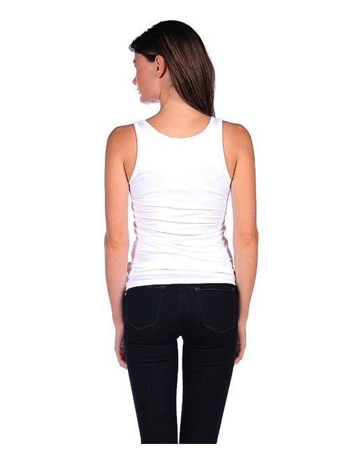 Majestic Filatures | White Tank With Laser Cut Trim | Lyst
