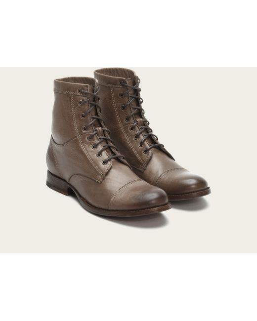 Frye | Gray Erin Work Boot | Lyst