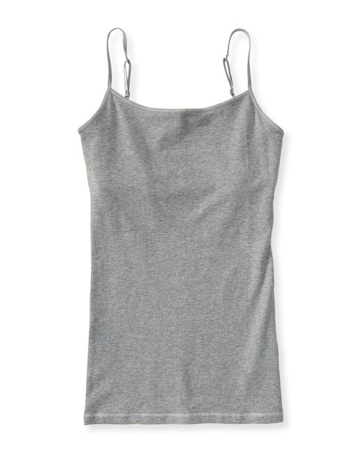 Aéropostale | Gray Solid Basic Shelf Bra Cami | Lyst