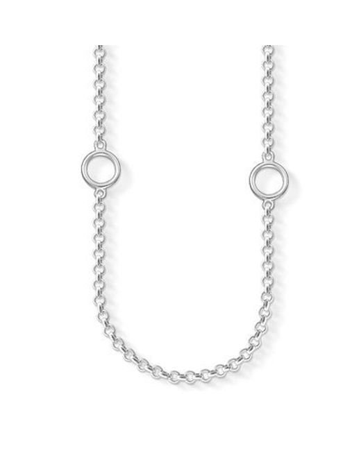 Thomas Sabo | Metallic Charm Club Long Silver Necklace | Lyst