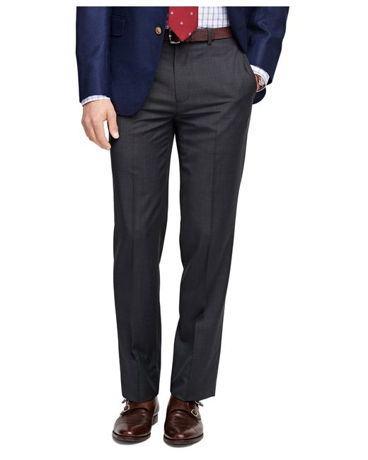 Brooks Brothers | Gray Fitzgerald Fit Wool And Mohair Check Trousers for Men | Lyst