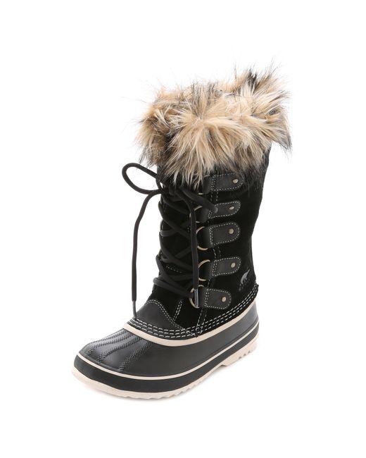 Sorel | Black Joan Of Arctic Boots | Lyst