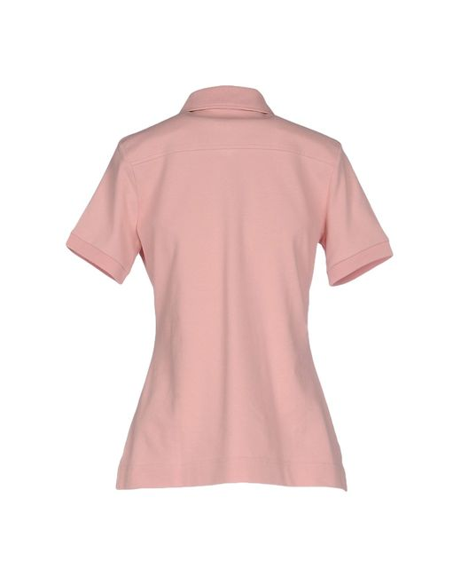 Barbour Polo Shirt In Pink Salmon Pink Lyst