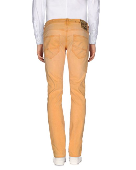 meltin 39 pot denim pants in orange for men lyst. Black Bedroom Furniture Sets. Home Design Ideas