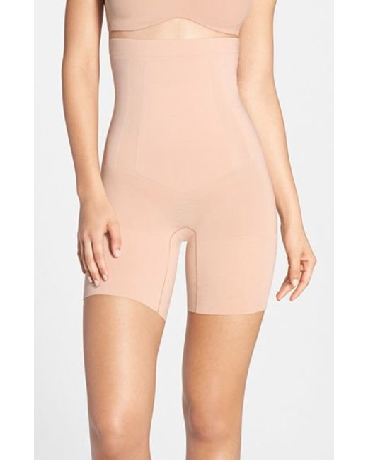 Spanx | Pink Spanx 'oncore' High Waist Mid Thigh Shaper | Lyst