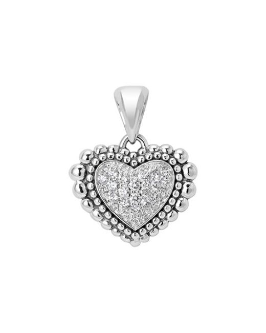 Lagos | Metallic Diamond Heart Pendant | Lyst