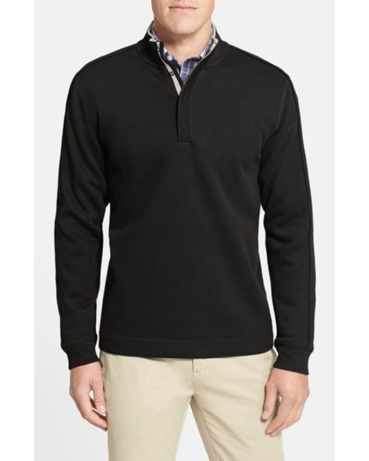 Cutter & Buck | Black 'fulltime' Supima Cotton Pullover for Men | Lyst
