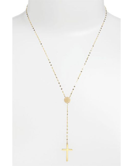 Lana Jewelry | Yellow 'crossary' Y-necklace | Lyst