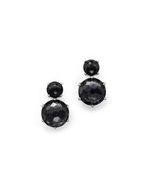 Ippolita | Metallic Sterling Silver Rock Candy 2 Stone Post Earrings In Black Onyx And Hematite | Lyst