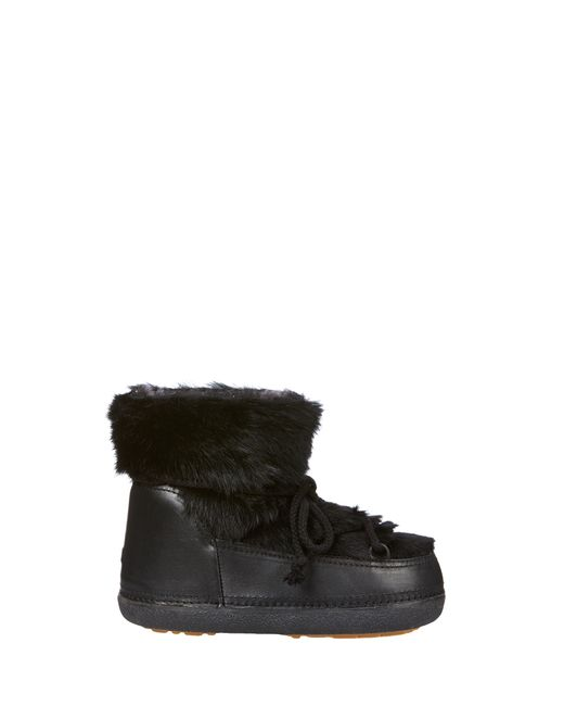 Ikkii | Red Lace-Up Rabbit-Fur Snow Boots | Lyst