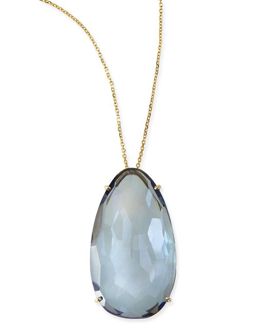 kalan by suzanne kalan pear blue quartz pendant