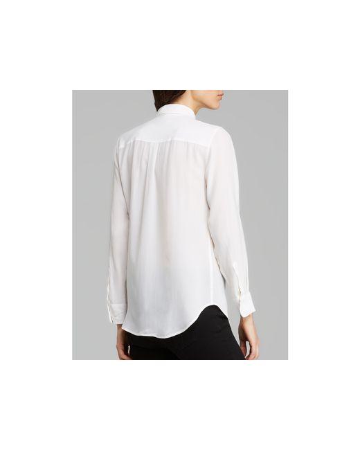 Equipment   White Shirt - Slim Signature Silk   Lyst