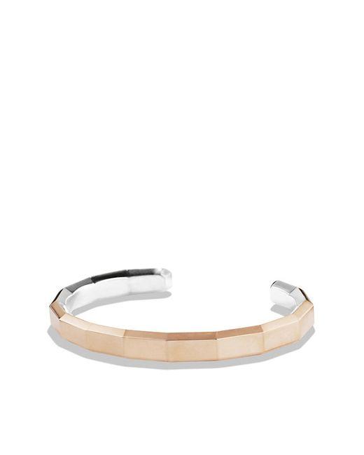 David Yurman | Pink Faceted Metal Cuff Bracelet With 18k Rose Gold | Lyst