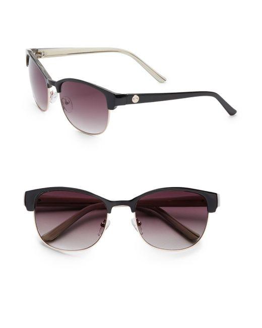 O By Oscar De La Renta   Black 56mm Modern Square Sunglasses   Lyst