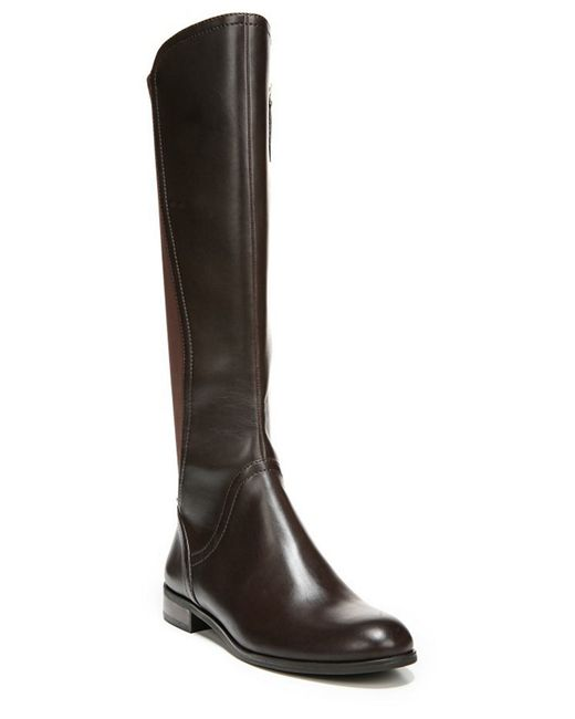 Franco Sarto | Brown Maleni Knee-high Stretch Faux Leather Boots | Lyst