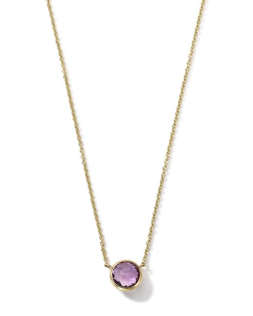 Ippolita | Metallic 18K Gold Mini-Lollipop Birthstone Necklace (February) | Lyst