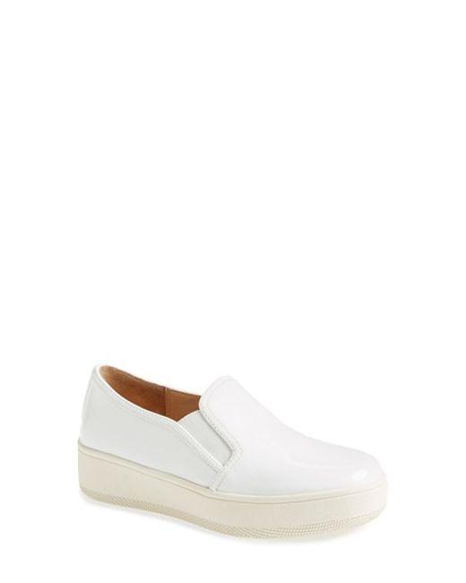 J/Slides | White 'Jibbie' Slip-On Platform Sneaker | Lyst