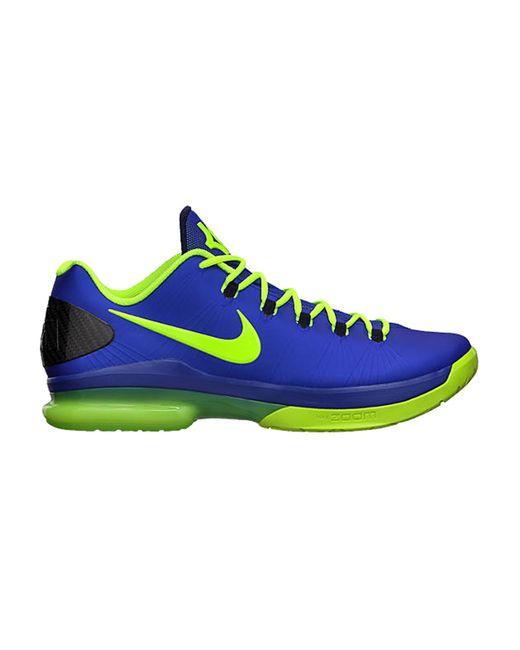 best service 9430e 1ac04 Nike Kd V Elite Basketball Shoes in Blue for Men   Lyst