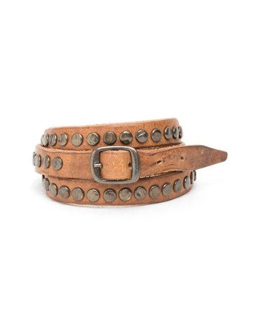 Will Leather Goods | Brown 'laurel' Wrap Bracelet for Men | Lyst