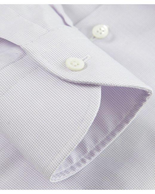 Corneliani   Purple Textured Slim Fit Shirt for Men   Lyst