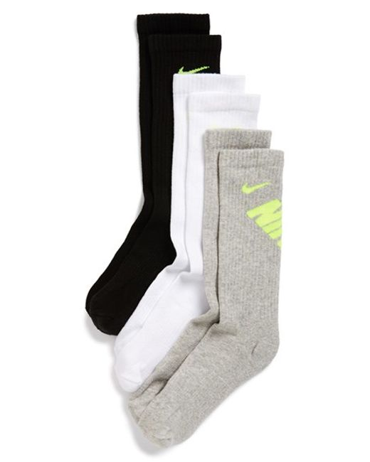 Nike | Red Performance Socks, (3-pack) | Lyst