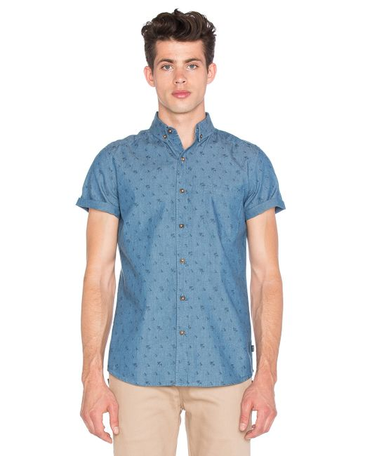 Globe stafford shirt in blue for men save 47 lyst for Where to buy stafford dress shirts