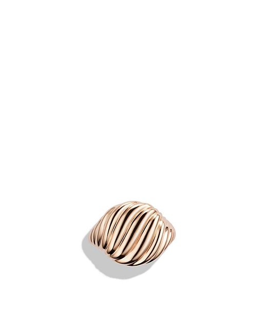 David Yurman | Sculpted Cable Pinky Ring In Rose 18k Gold | Lyst