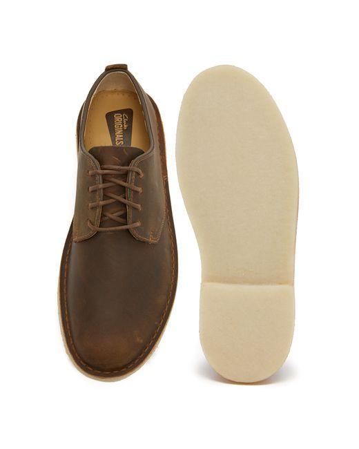 Clarks | Brown Leather Desert London Oxfords for Men | Lyst