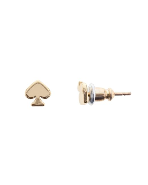 Kate Spade   Metallic Mini Spade Stud Earrings   Lyst