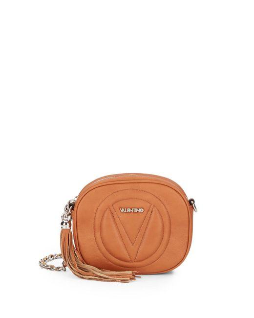Valentino By Mario Valentino   Brown Nina Leather Convertible Crossbody   Lyst