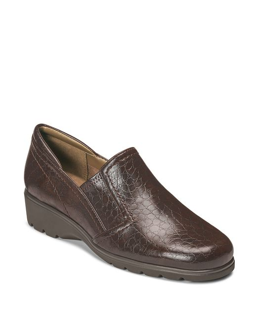 Aerosoles | Brown Songbook Faux Leather Loafers | Lyst
