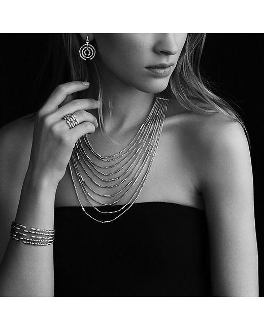 David Yurman | Metallic Willow Five-row Bracelet With Diamonds In Gold | Lyst