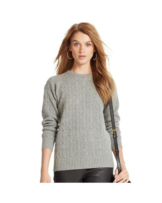 Polo Ralph Lauren   Gray Classic Cable Cashmere Sweater   Lyst
