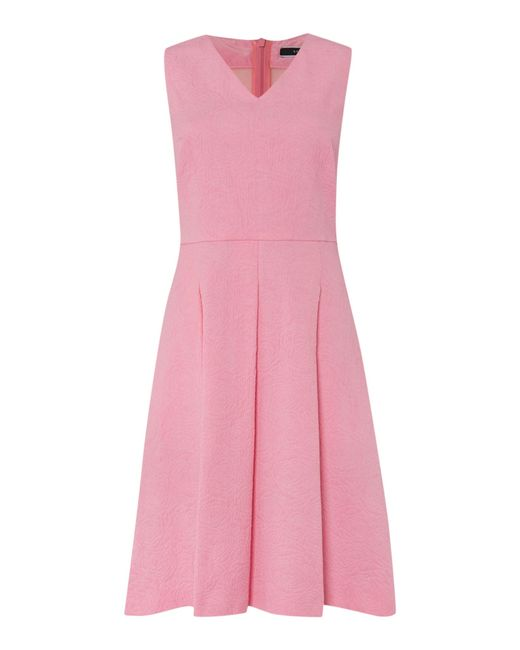 Sportmax Code | Pink Sleeveless Jacquard Waisted Dress | Lyst