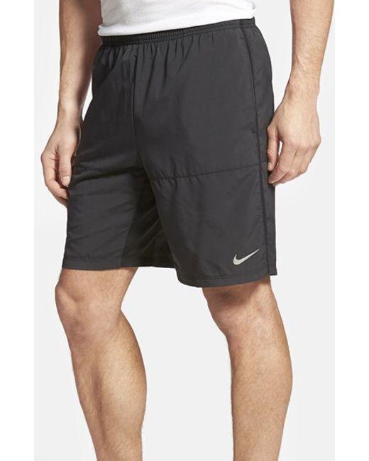 Nike | Black Dri-fit Woven Running Shorts for Men | Lyst