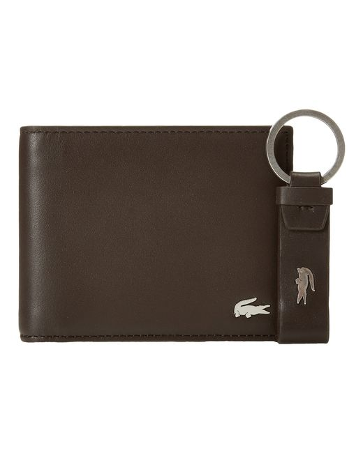 Lacoste | Brown Fg Small Billfold Id Slot for Men | Lyst