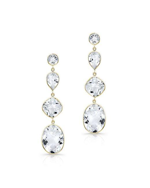 Anne Sisteron | 14kt Yellow Gold White Topaz Quadruple Drop Earrings | Lyst
