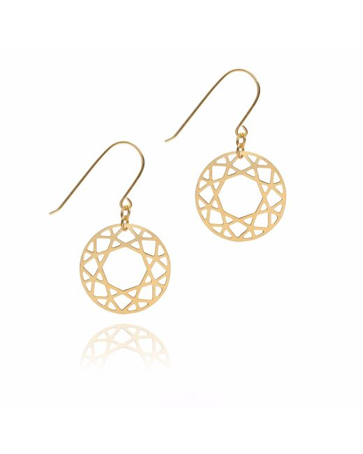 Myia Bonner | Metallic Gold Brilliant Diamond Drop Earrings | Lyst
